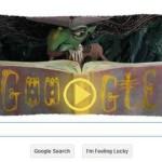 Google создал doodle под праздник Хэллоуин