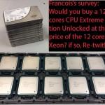 Компания Intel интересуется мнением почитателей бренда о новых процессорах