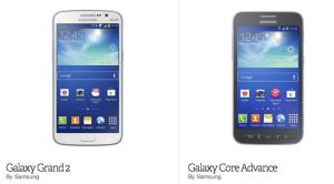 Samsung представила линейку бюджетных смартфонов Galaxy Grand 2 и Core Advance