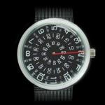 В продажу поступили часы с неподвижной стрелкой и вращающимися дисками времени