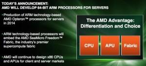 AMD готова к выпуску первого 64-битного ARM-процессора для сервера