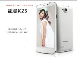 Огромный смартфон Newman K2S будет оснащен 8-ядерным процессором MT6592