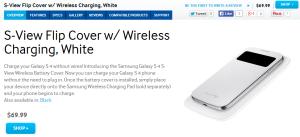 Для Galaxy S4 выпущен чехол S-View с функцией беспроводной зарядки