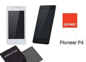С сегодняшнего дня смартфон Gionee Pioneer P4 доступен в онлайн-магазинах