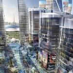 Город под крышей с кондиционированным воздухом на улицах