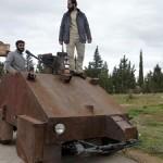 Самодельный сирийский танк управляется с помощью Game Boy