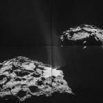 Зонд Rosetta запечатлел струи газа, вырывающиеся с кометы Чурюмова-Герасименко