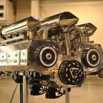 15,7-литровый двигатель Ванкеля сделан из 12 роторов