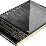 Представлен смартфон ограниченной серии Black & Gold BlackBerry Passport
