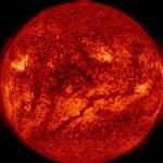 Грустный «смайлик» на Солнце