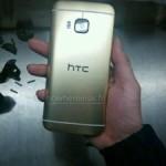«Живые» фото HTC One (M9) в золотистом корпусе
