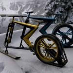 Дизайнеры скрестили велосипед со снегоходом