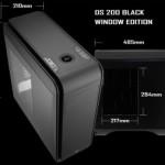 ПК-корпус AeroCool DS200 Black Window Edition оснащён боковым окном