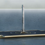 Видеозапись жесткой посадки Falcon 9 на плавучую платформу