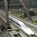 Японский экспресс на магнитной подушке установил новый рекорд, разогнавшись до 590 километров в час