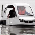 H2O Salamander: трёхколёсный мини-автомобиль для движения по суше и воде