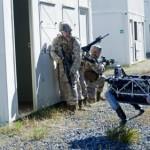 Робот Spot компании Boston Dynamics принимает участие в учениях, в условиях, максимально приближенны...
